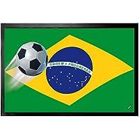 1art1® Fútbol - Bandera De Brasil Felpudo Alfombrilla (60 x 40cm)