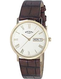 Rotary GS02324/32 - Reloj analógico de caballero de cuarzo con correa de piel