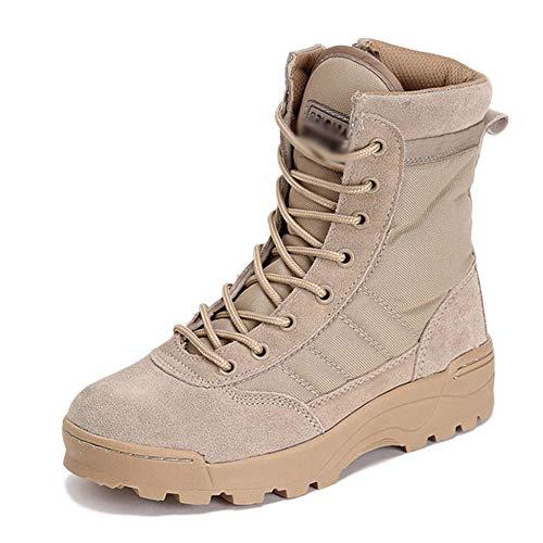 Yra Herren Damen Armee Stiefel Herbst Winter Ultralight Combat Boots Tactical Boots Outdoor Bergsteigen Desert Boots Wanderschuhe,Sandcolor-40 Tactical Military Boots