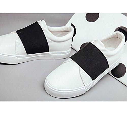 Minetom Donne Scarpe Donna Bassi Scarpe Sportive Mocassino Casuale Calzature Moda Scarpa Da Ginnastica Nero