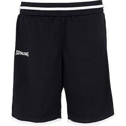 Spalding Move Damen Shorts, schwarz/Weiß, M