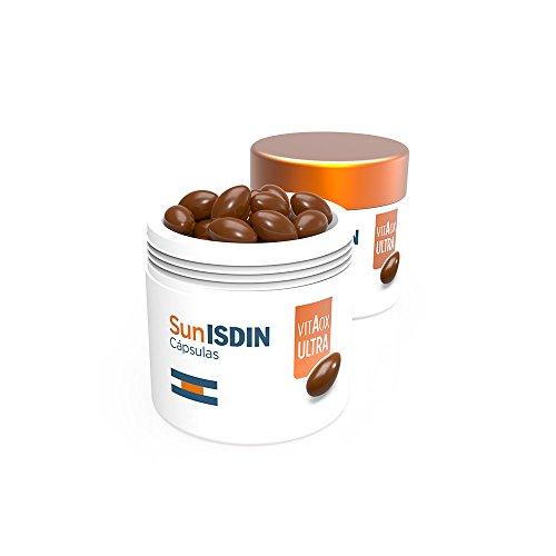 SunISDIN - Capsule orali, 30 pezzi, integratore alimentare che aiuta a preparare la pelle per l'esposizione solare