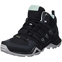 Adidas Terrex Swift R2 Mid, Zapatillas de Marcha Nórdica para Mujer, Negro (Core Black/Core Black/Ash Green 0), 38 EU
