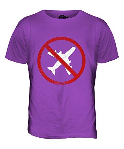 CandyMix Flugangst Aviophobie Herren T Shirt Violett