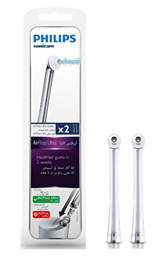 Philips Sonicare Hochleistungsdüsen für AirFloss Ultra zur elektrischen Zahnzwischenraumreinigung HX8032/07, 2er Pack