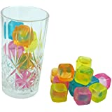 20Pc Multi Coloured Reusable Ice Cubes - Refreeze Again And Again (Pack of 1)