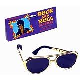 Bristol Novelty BA243Rock Star Sonnenbrille, Herren, Gold, One Size
