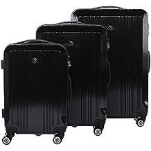 FERGÉ Dreier Kofferset CANNES - 3 Trolley-Hartschalenkoffer mit 4 Zwillingsrollen - Trolley-Koffer