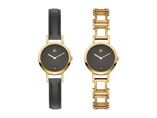 Mercedes-Benz, montre bracelet, Femme Doré/Noir, Acier inoxydable