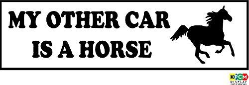 My anderen KFZ-ist ein Pferd-Auto Oder Van Bumper Aufkleber-Selbstklebendes Vinyl 230mm x 80mm -
