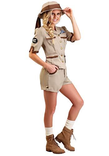 Adult's Archaeologist Fancy Dress Costume Small (Womens Poplin Shorts)