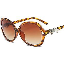 Aierwish Damen Neue Große Schachtel UV-Schutz elegant Sonnenbrille Mit Brillenbox (2)