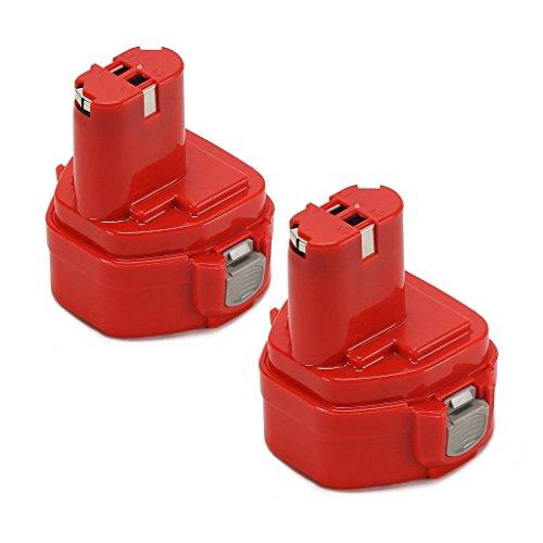 2pezzi 12.0V 2000mAh 12V 2.0AH 1220Ni-MH batteria (rosso) ricambio batteria di ricambio–batteria per Makita Utensile Elettrico 12V 2.0ah1222122012001230123312341235compatibile con Makita 6213d 6217d 6271d 6313d 6835d 6916d 8413d ML120