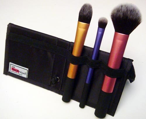 Real Techniques Travel Essentials Makeup Brush Set case + Stand (pack of 3)