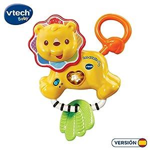 VTech- Leo el León sonajero mordedor Interactivo bebé con más de 30 melodías, Canciones y Frases Que complementan aspectos educativos, Multicolor (3480-508222)