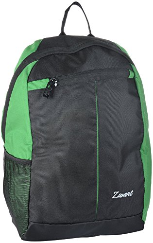 Zwart 20 Ltrs Slim Black And Green Laptop Backpack