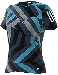 adidas RS Q2 SS Tee W Camiseta de Manga Corta, Mujer, Azul (Azuene), M