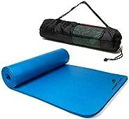 Esterilla Yoga Esterilla Pilates Antideslizante 6mm Alfombrilla de Yoga con Línea Corporal, Ecológicos TPE Est