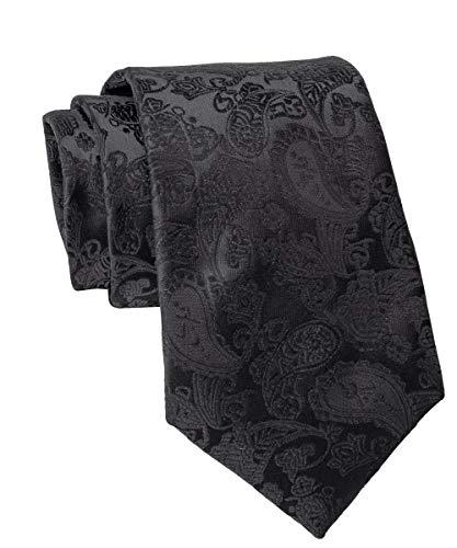 WilRoB Handgemachte Designer Krawatte 100% Seide 8 cm - mit gratis Einstecktuch (Schal Seide Herren Krawatte)