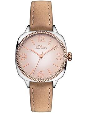 s.Oliver Damen-Armbanduhr Analog Quarz Leder SO-3135-LQ