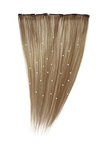 American Dream - A19/QFC12/18/12-100% Cheveux Naturels - Pièce Unique Extensions Cristallisées à Clipper - Couleur 12 - Brun Doré - 46 cm