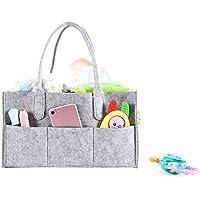Bolsa de Almacenamiento de Fieltro de pañales Infantiles, Viajes Cesta del almacenaje del pañal del bebé Bolsa de Almacenamiento