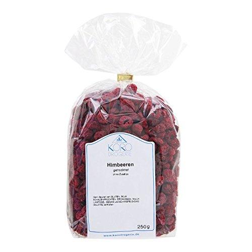 Preisvergleich Produktbild KoRo Getrocknete Himbeeren 250 g Ungeschwefelte Trockenfrüchte Ohne Zuckerzusatz und Künstliche Aromen Snack Vegan