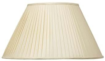 Aimbry Abat-jour plissé en soie 40 cm (Amande)