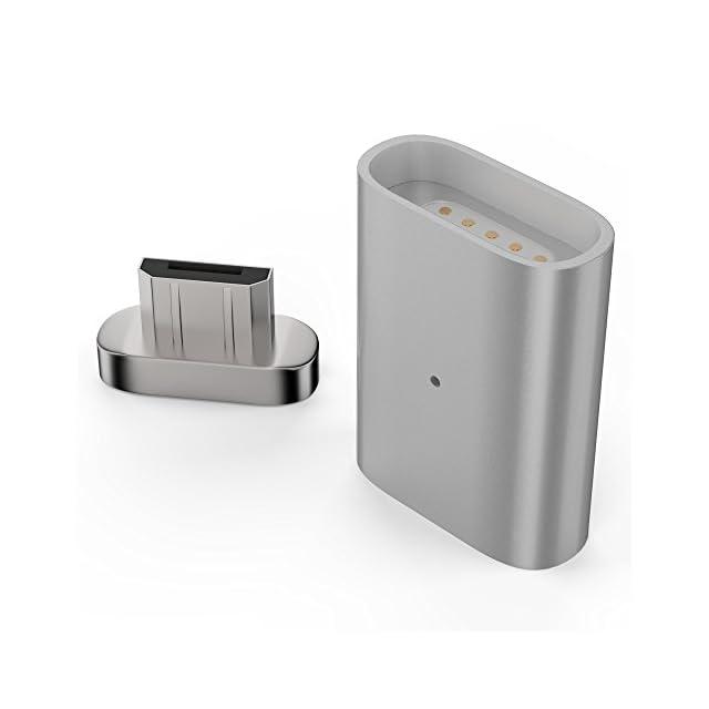 esorio® Adaptateur MicroUSB vers MicroUSB magnétique connecteur en argent