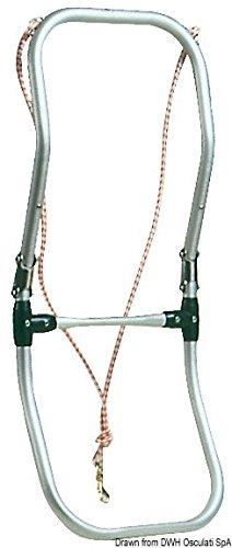 MARETeam® Schlauchbootleiter Badeleiter klappbar mit Leine 90 cm Lang