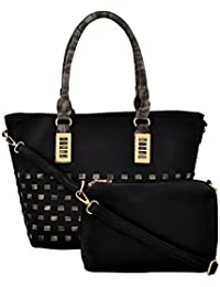 Mark & Keith Women Black Handbag (MBG 0470 BK)
