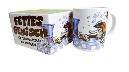 MOTOmania Tasse Tasse Fettes Gemisch 220 ml, Unisex, Multipurpose, Ganzjährig, Keramic