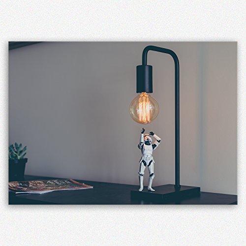 (ge Bildet !!! SENSATIONSPREIS Hochwertiges Leinwandbild - Stormtrooper VII - 30 x 20 cm einteilig | Angebote der Woche Geschenke für Frauen Geschenke für männer |)