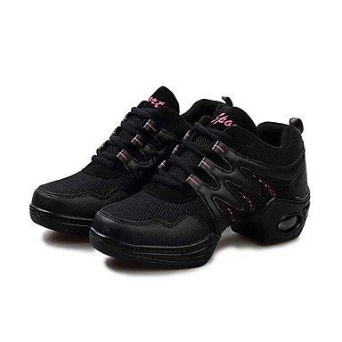 Frauen Tanzschuhe Kunstleder Kunstleder Tanz Sneakers / Sneakers Flat Heel Praxis / Black/Gold