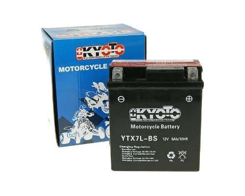 Kyoto GTX7L-BS MF - Batteria 12 V, non richiede manutenzione