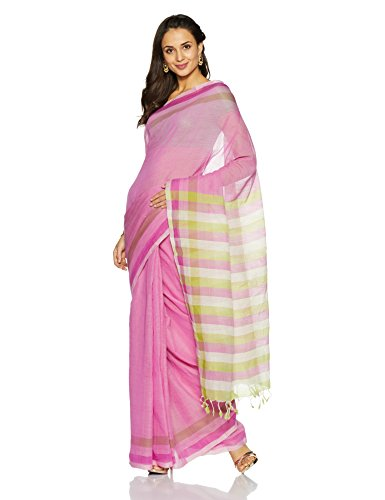 IndusDiva Multicoloured Mangalgiri Pure Cotton Handloom Saree(BLR1623051_Multicoloured_One Size)