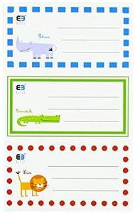 Interdruk Nakzesb & B - Adhesivo para Cuaderno (diseño de niños), Color Azul y Negro