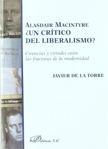 Portada del libro Alasdair Macintyre ¿Un Crítico Del Liberalismo?