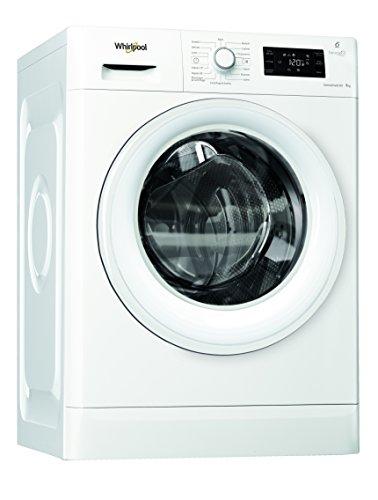Whirlpool FWG91284W IT Lavatrice (Libera installazione, Carica frontale, 9kg,1200Giri/min, A+++), Bianco