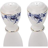 porlien Elegance Collection Set di stoviglie porcellana fiore blu bordato