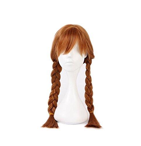 Beauty Smooth Hair Mädchen Braids Cartoon-Animation Cosplay Kinderperücke Nur for Kind Perücke (braun)