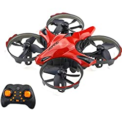 H56 2.4G Mini Drone RC Quadcopter Aviones con detección de Infrarrojos Altitude Hold 3D Flip One Key Return para niños niños (Rojo)