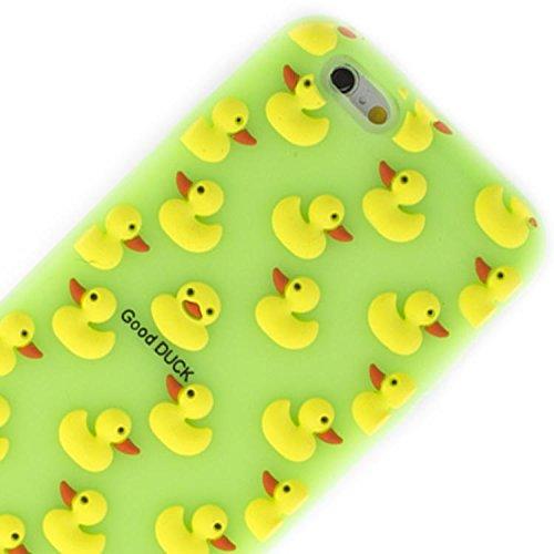 Vahalla Zubehör Hülle für iPhone 6 / iPhone 6s Silikon Ente Grün