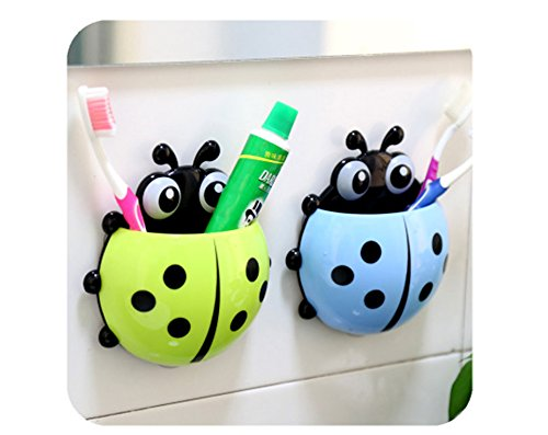 VEPSON Cartoon Toothbrush & Toothpast Holder With Suction Cup (Multicolor)