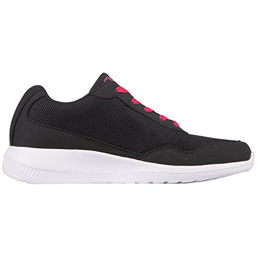 Kappa Follow, Sneaker Unisex – Adulto Nero (1122 black/pink)