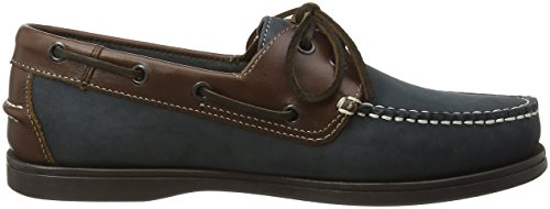 Chatham Marine Commodore, Chaussures bateau Homme Blue (Navy/Brown)