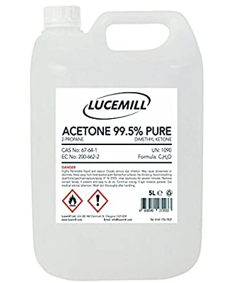 5 Litre (l) Acetone 99.5% Pure High Strength Nail Gel Polish Remover