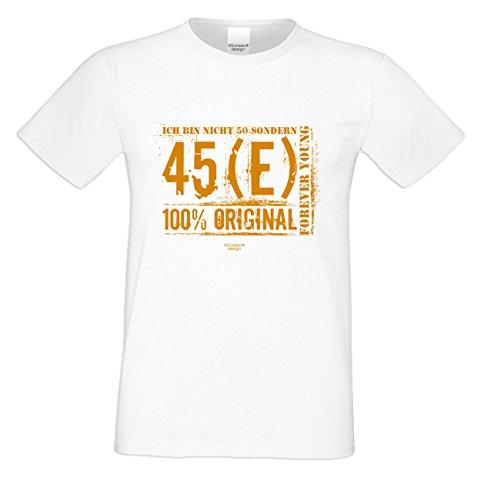 Zum 50. Geburtstag / Herren Geschenke-Idee für alle Menschen mit Geschmack / Motiv: Ich bin nicht 50 Farbe: weiss Weiß