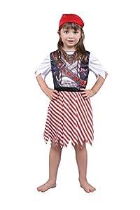 Bristol Novelty CF160 - Disfraz de pirata sublimación para niña, multicolor