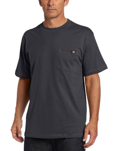 Dickies - - Männer WS436 Short Sleeve 100% Baumwolle Pocket Tee Charcoal